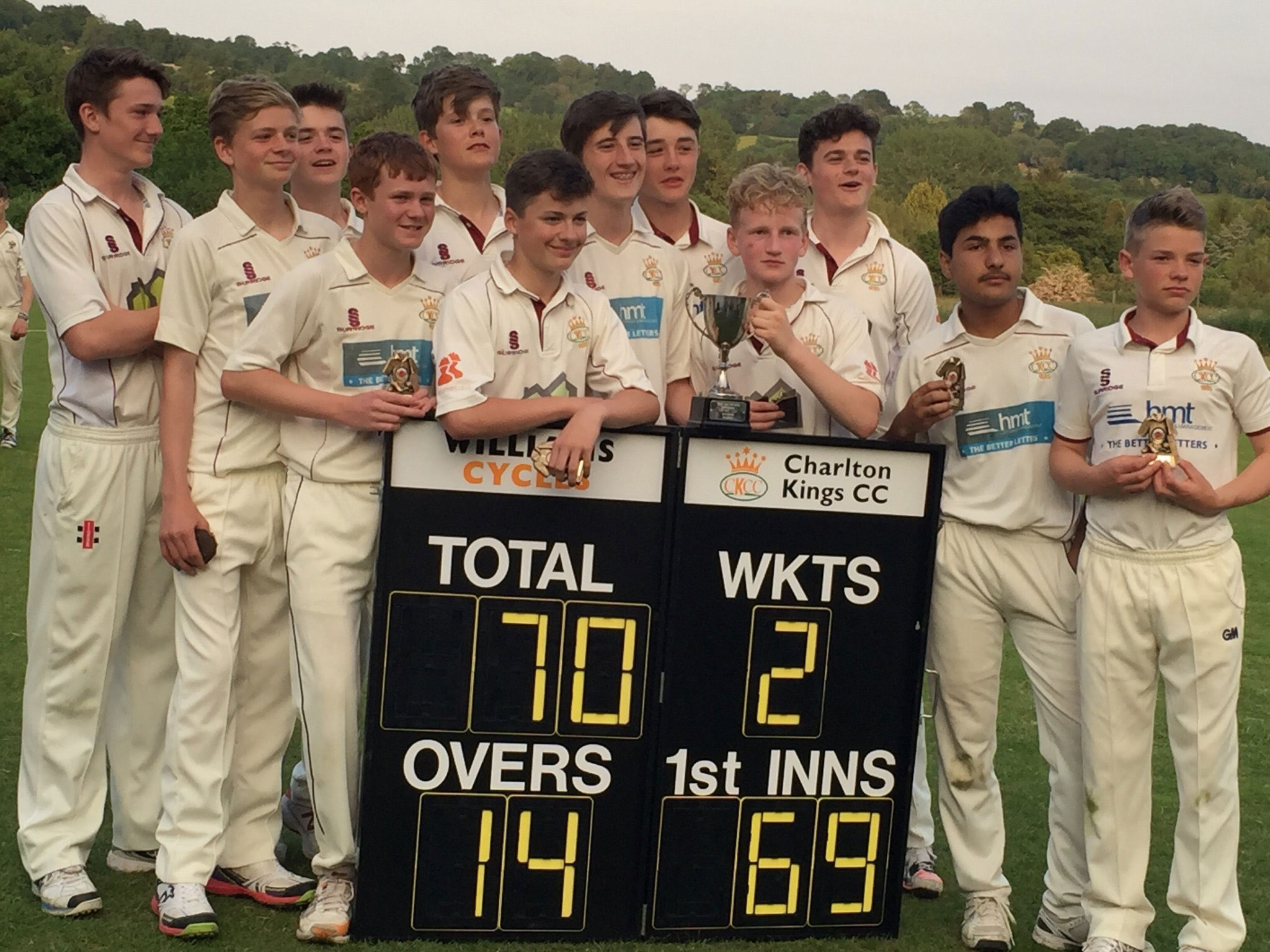 Charlton Kings beat Cheltenham to win U15 District Cup