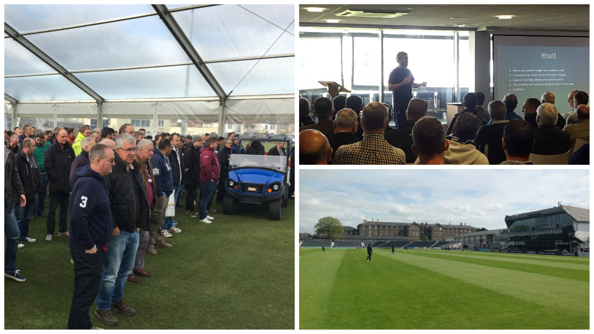 Spinning pitches discussed at Groundsmen's seminar