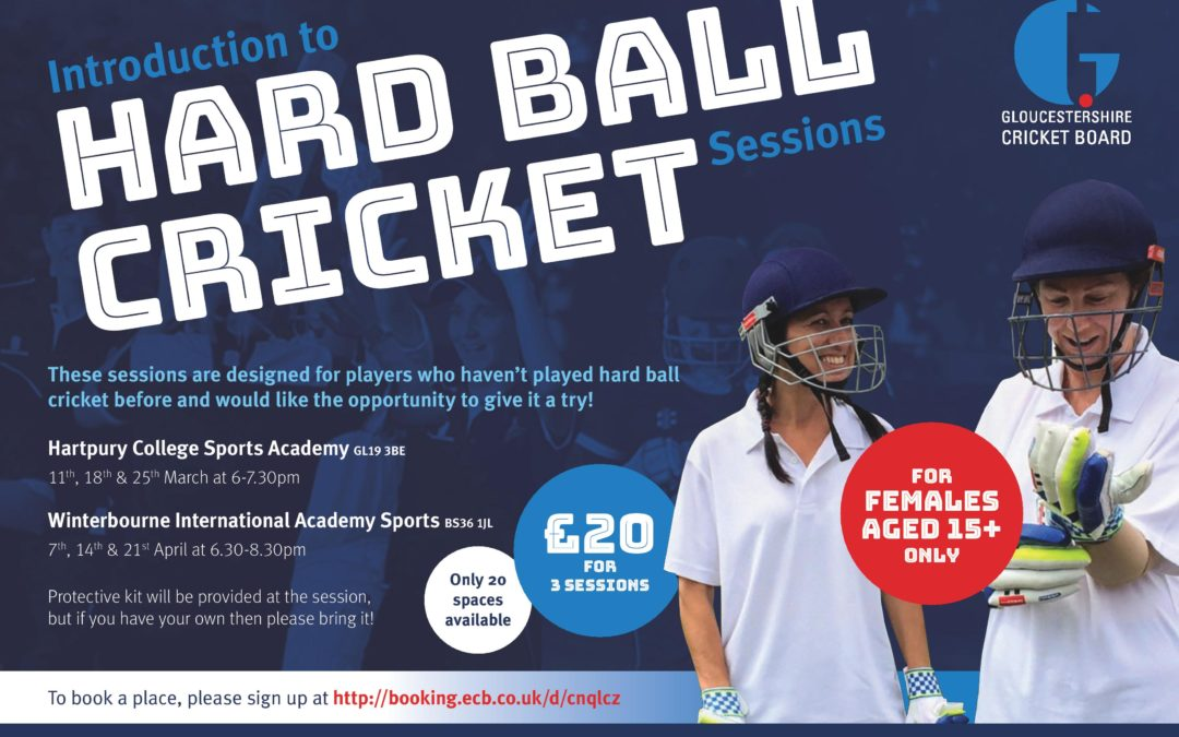 Introduction to Hard Ball Cricket Sessions for Women