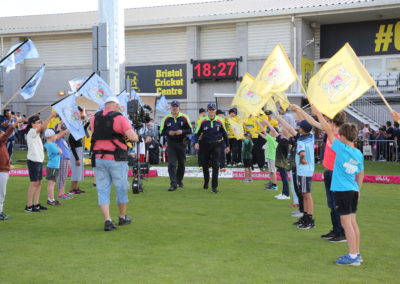 Gloucestershire v Hampshire - 13th August 2019 - Guard of Honour (15)