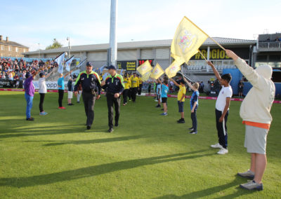 Gloucestershire v Hampshire - 13th August 2019 - Guard of Honour (16)