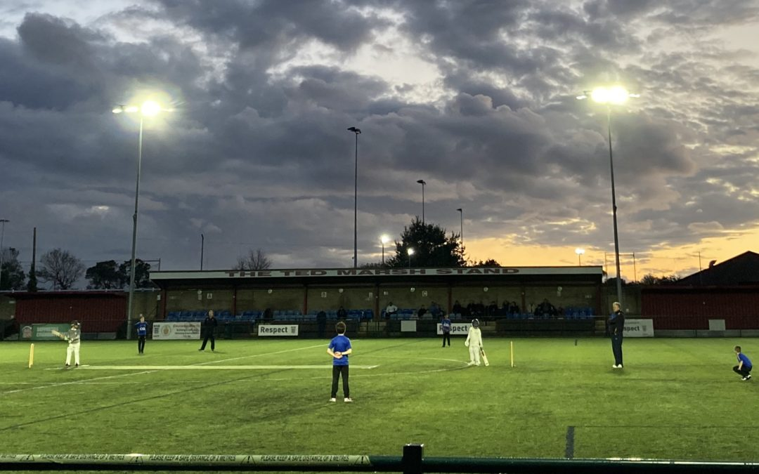 Floodlit junior cricket a big hit