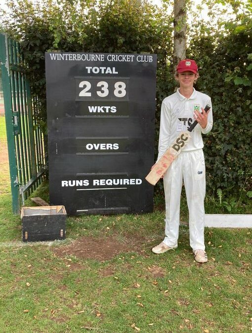 Max, 15, hammers a record breaking 238*!