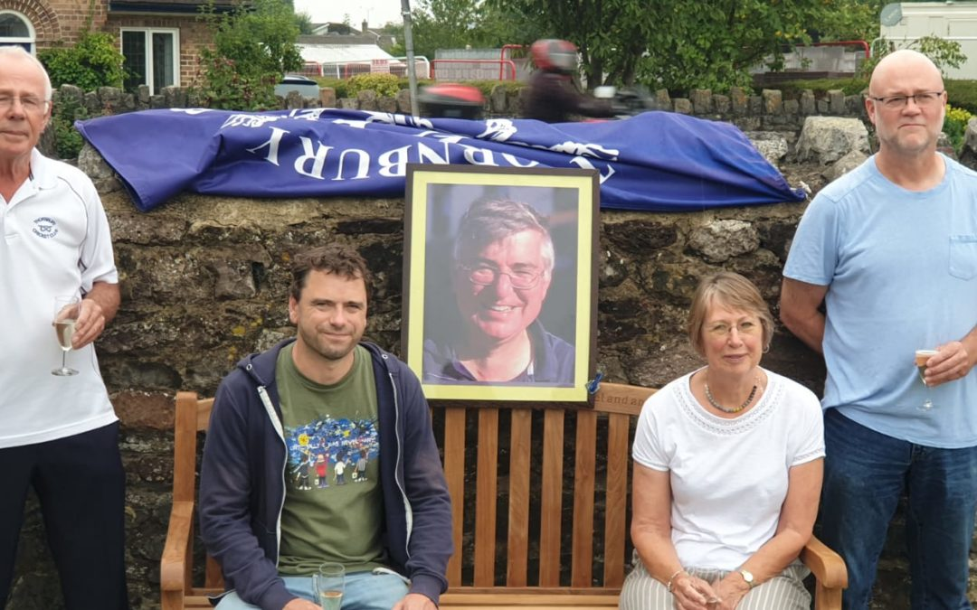 'Giant of grass roots cricket' remembered with memorial bench