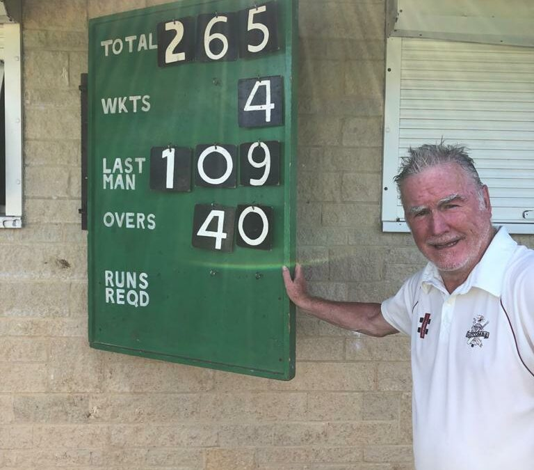 72-year-old Phil carries his bat for 109!