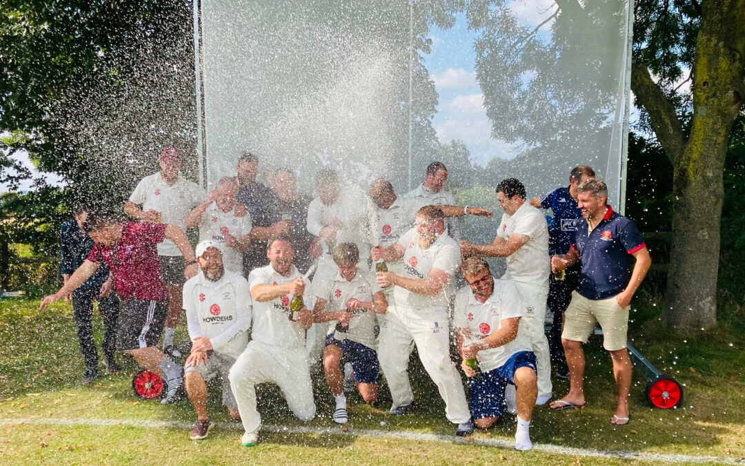 Whitminster CC celebrate a hat-trick of consecutive promotions