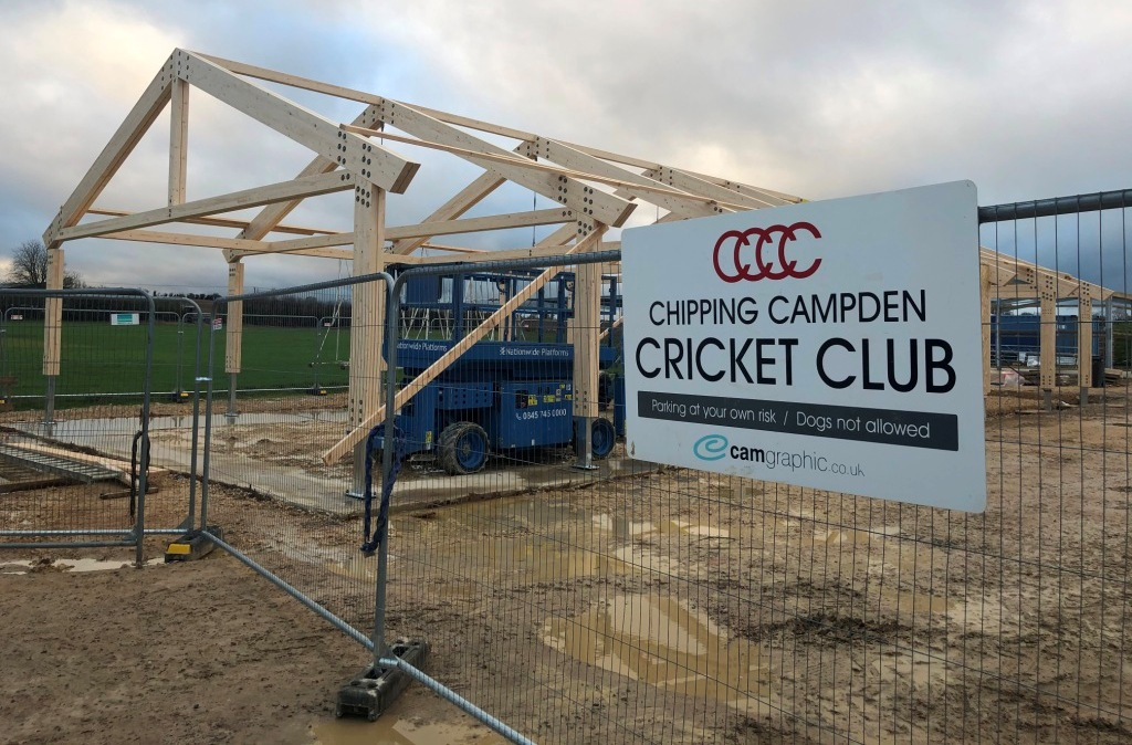 Chipping Campden's new pavilion fast taking shape